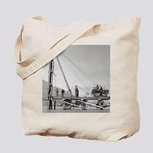 Bridge Builders in Alaska, 1942 Tote Bag
