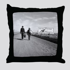 Hitchhikers Outside Los Angeles, 1937 Throw Pillow