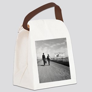 Hitchhikers Outside Los Angeles,  Canvas Lunch Bag