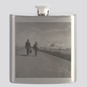 Hitchhikers Outside Los Angeles, 1937 Flask