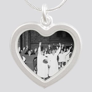 Praising the Lord, 1941 Silver Heart Necklace