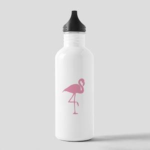 Pink Flamingo Sports Water Bottle