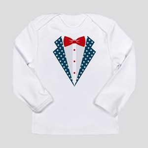 Patriotic Tuxedo Long Sleeve Infant T-Shirt