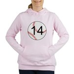 Custom Baseball Women's Hooded Sweatshirt