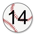Custom Baseball Round Car Magnet