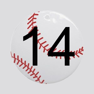 Custom Baseball Ornament (Round)