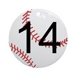 Custom Baseball Ornament (Round)