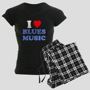 I Love Blues Music Pajamas