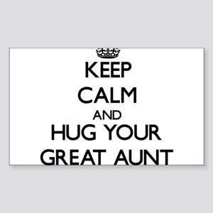 Keep Calm and Hug your Great Aunt Sticker