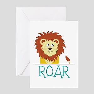 Roar Greeting Cards