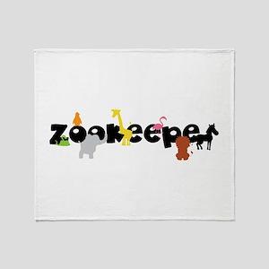 Zoo keeper Throw Blanket