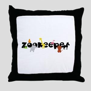 Zoo keeper Throw Pillow