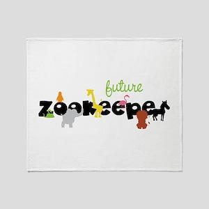 Future zoo keeper Throw Blanket