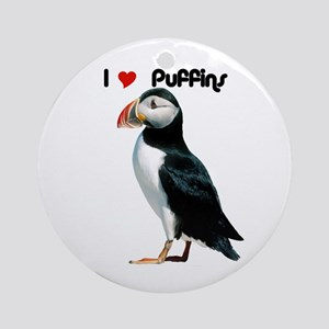 I Luv Puffins Ornament (Round)