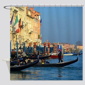 Venetian gondoliers Shower Curtain