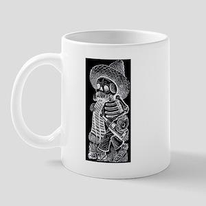Calavera with Bottle - El Bor Mug