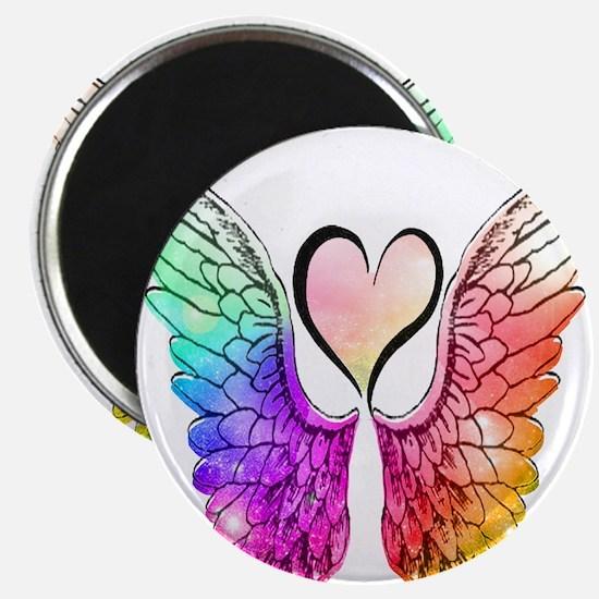Angel Wings Heart Magnets