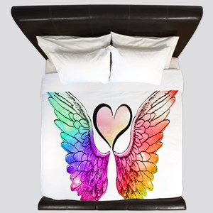 Angel Wings Heart King Duvet