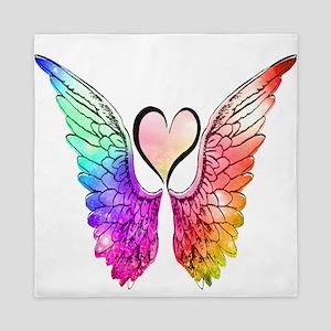 Angel Wings Heart Queen Duvet
