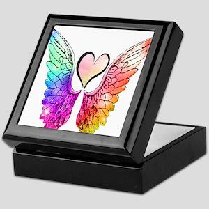 Angel Wings Heart Keepsake Box