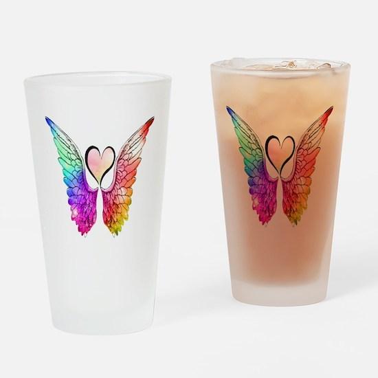 Angel Wings Heart Drinking Glass