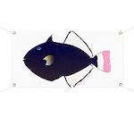 Pinktail Triggerfish aka Paletail Durgon Banner