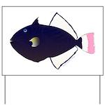 Pinktail Triggerfish aka Paletail Durgon Yard Sign