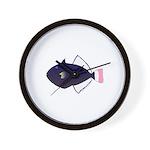 Pinktail Triggerfish aka Paletail Durgon Wall Cloc
