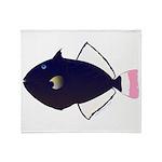 Pinktail Triggerfish aka Paletail Durgon Throw Bla