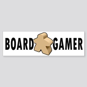 Board Game Meeple Unpainted Bumper Sticker