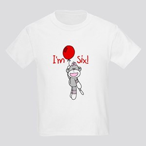 Sock Monkey 6th Birthday Kids Light T-Shirt