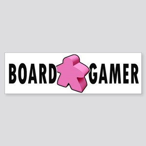 Board Game Meeple Pink Bumper Sticker