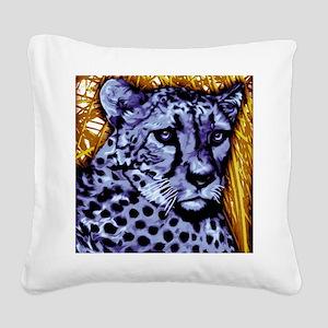 Cheetah artwork Square Canvas Pillow