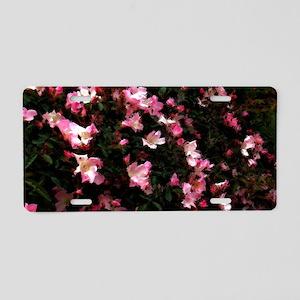 Rambling Rose Aluminum License Plate