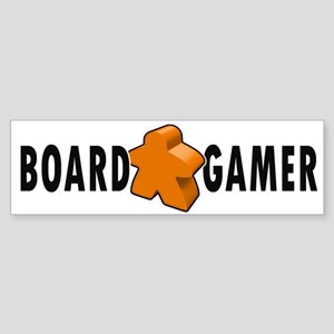 Board Game Meeple Orange Bumper Sticker