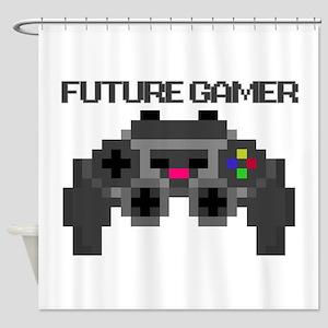 Future Gamer Shower Curtain