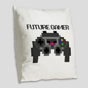 Future Gamer Burlap Throw Pillow