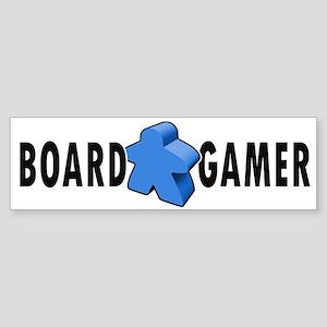 Board Gamer Blue Bumper Sticker