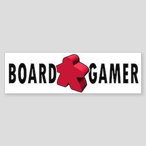Board Game Meeple Red Bumper Sticker