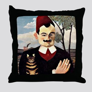Henri Rousseau - Portrait of Monsieur Throw Pillow
