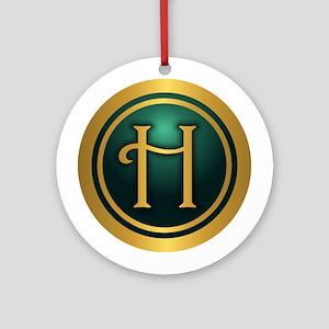 Irish Luck H Ornament (Round)