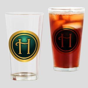 Irish Luck H Drinking Glass