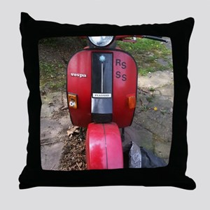 Rote Vespa Throw Pillow