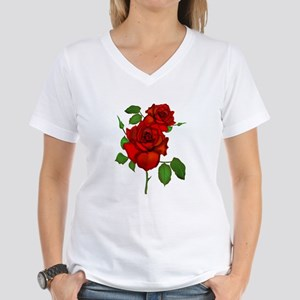 Rose Red Women's V-Neck T-Shirt