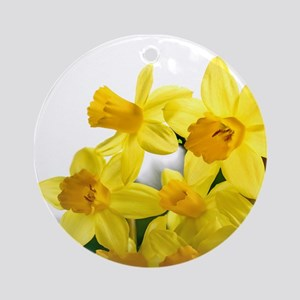 Daffodils Style Ornament (Round)