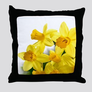 Daffodils Style Throw Pillow