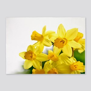 Daffodils Style 5'x7'Area Rug