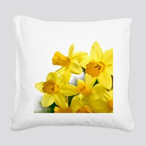 Daffodils Style Square Canvas Pillow