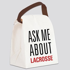 Lacrosse - Ask Me About - Canvas Lunch Bag