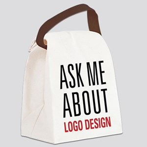 Logo Design - Ask Me About - Canvas Lunch Bag